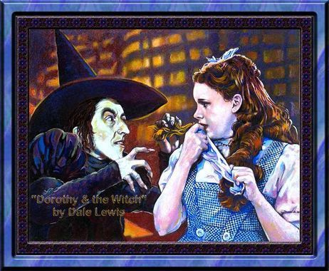 The Wizard of Oz wallpaper with anime titled Dorothy and the Wicked Witch of the West