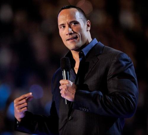 "Dwayne ""The Rock"" Johnson fondo de pantalla called Dwayne At 2009 Grammys."