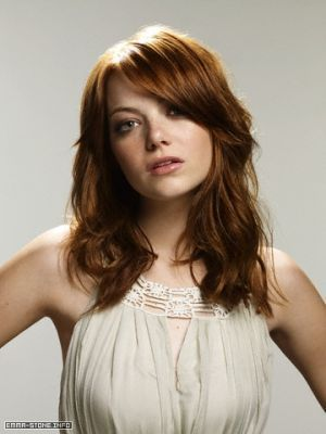 Emma Stone wallpaper containing a portrait, attractiveness, and a bustier titled Emma