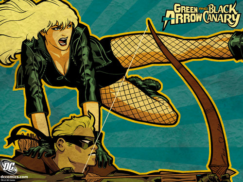 Green Arrow Black Canary - dc-comics Wallpaper