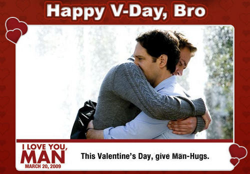 I Love You, Man wallpaper possibly containing a newspaper, a sign, and anime called Happy V-Day, Bro.