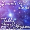 He Counts the Stars and Calls Them All By Name - christianity Icon