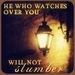 He who watches over you will not slumber - christianity icon