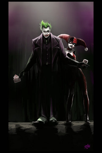 Joker & Harley Quinn - comic-books Fan Art