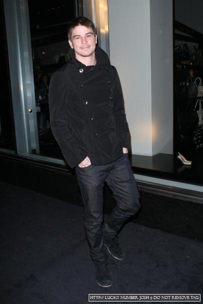 Josh At Giorgio Armani 5th Av Store Opening.