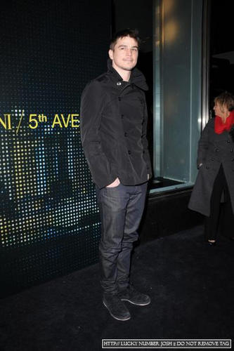 Josh At Giorgio Armani 5th Av Store Opening.