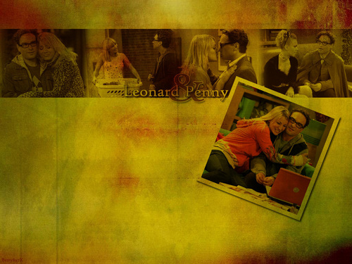 The Big Bang Theory wallpaper entitled Leonard and Penny