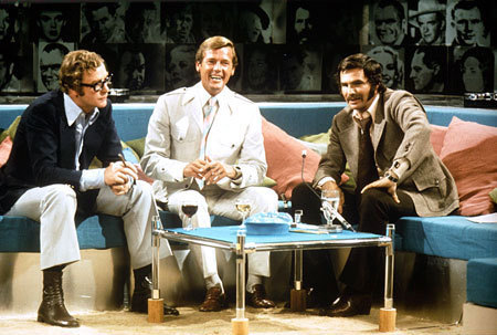 Michael, Roger Moore and Burt Reynolds