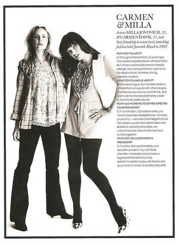 Milla & Carmen Hawk in Elle UK