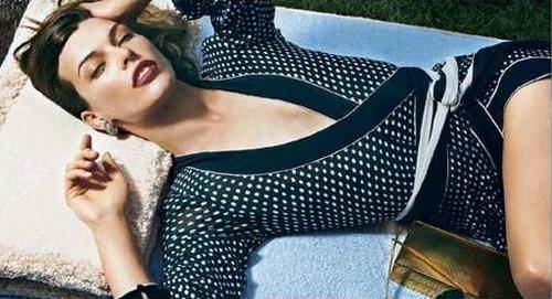 Milla Modeling for Donna Karan