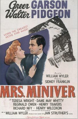Mrs Miniver 1942 Poster