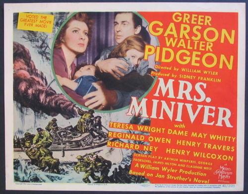 Mrs Miniver Lobby Card