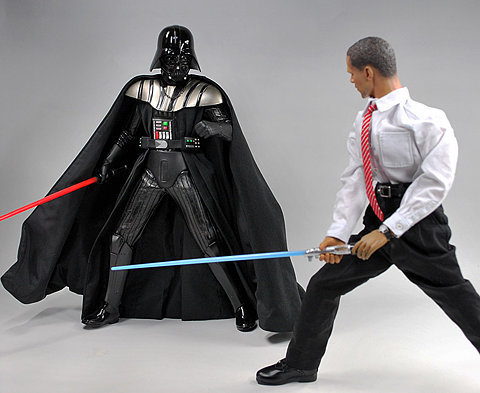 Obama and Darth Vader