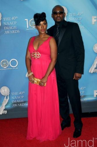 Omar Epps and his wife Keisha Spivey @ the 2009 NAACP Awards