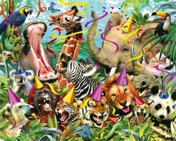 Wild Animals wallpaper entitled Party Animals