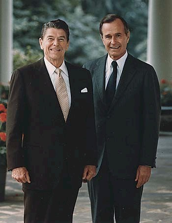 Presidents Reagan and belukar, bush