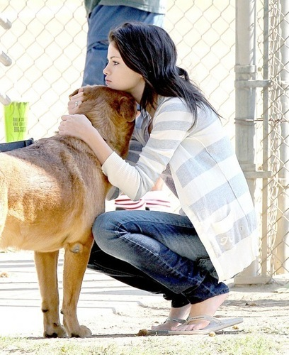 Selena With A Little Doggy Woggy