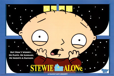 Stewie home alone