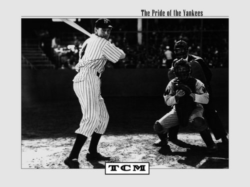प्रतिष्ठित फिल्में वॉलपेपर containing a ballplayer, a fielder, and an umpire titled The Pride of the Yankees