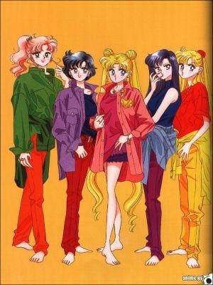 Usagi,Rei,Ami,Makoto,Minako