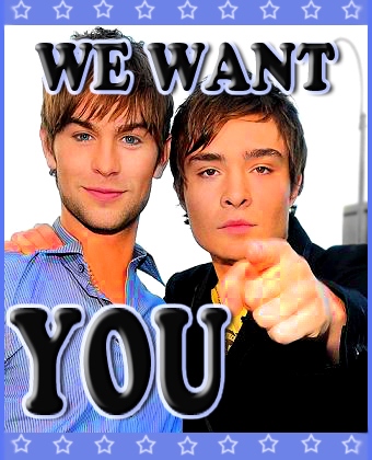 Gossip Girl wallpaper possibly with a sign and a portrait titled We Want You..... to have sex with us??