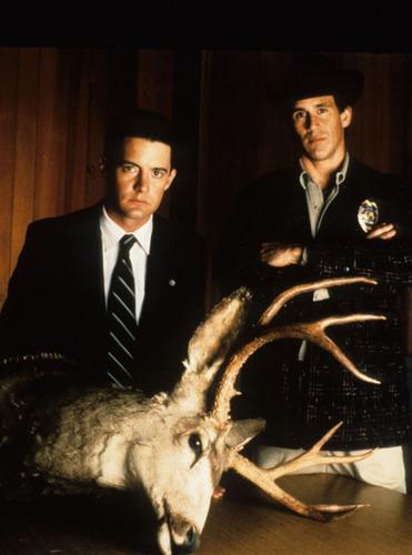 agent cooper & sheriff truman