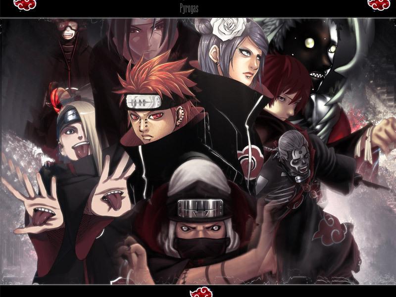 akatsuki members - Naruto Shippuuden 800x600