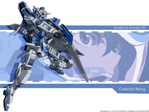 Gundam দেওয়ালপত্র probably with জীবন্ত titled exia