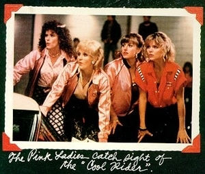 Pink Ladies wallpaper with a portrait titled grease 2 pink ladies