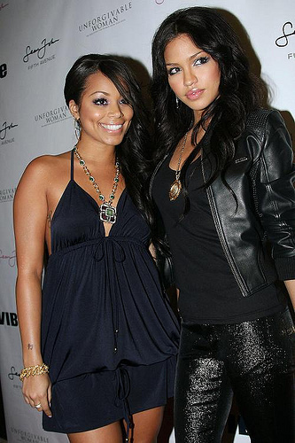 Photo of Lauren London & her friend musician  Cassie - United States