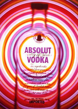 Vodka wallpaper possibly containing a turntable and a compact disk titled Absolut