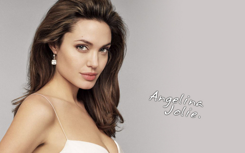 Angelina Jolie wallpaper probably with attractiveness, a brassiere, and an uplift titled Angelina Jolie