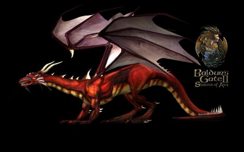 Dragons wallpaper containing a triceratops titled Baldur's Gate
