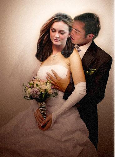 Blair and Chuck's Wedding Portrait