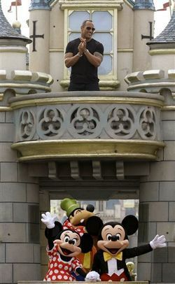 Dwayne At Disneyland (Hong Kong).