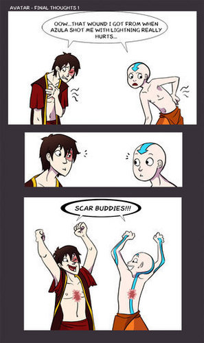 Avatar The Last Airbender karatasi la kupamba ukuta containing anime entitled Funny Avatar comic