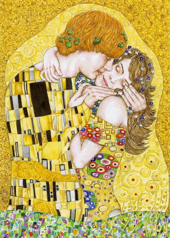 Gustav Klimt: Ron&Hermione キッス