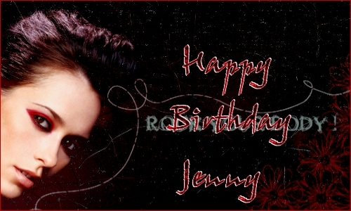 Jennifer Love Hewitt wallpaper with a sign entitled Happy Birthday Jenn