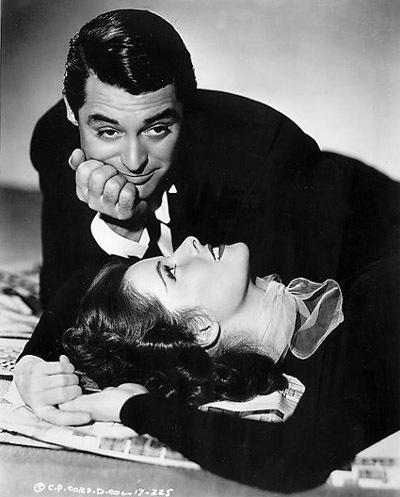 Katharine and Cary Grant