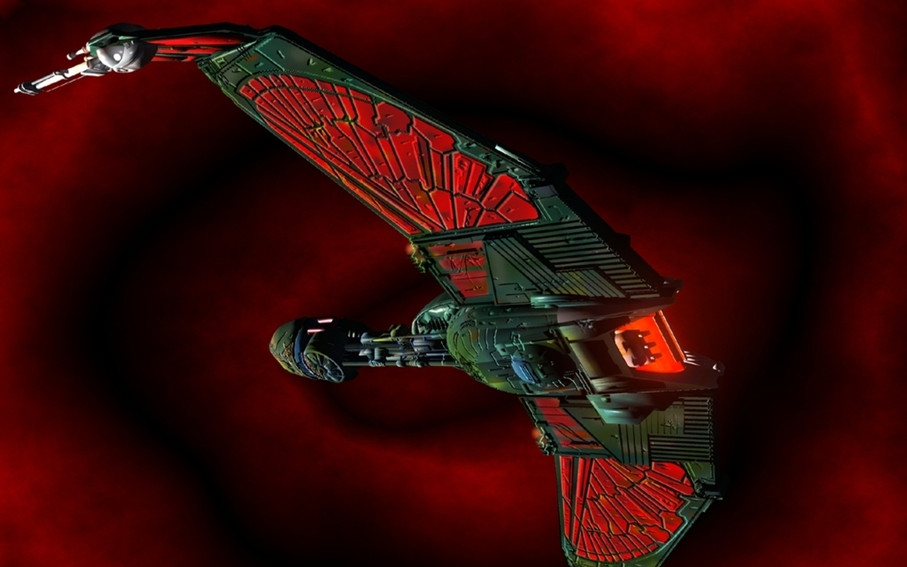 Science fiction klingon bird of prey