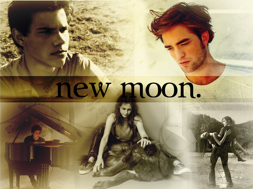 New Moon Movie wallpaper possibly with a sign entitled New Moon <3