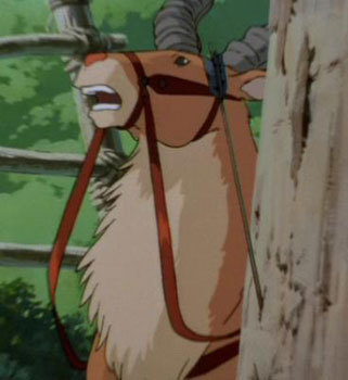 Princess Mononoke wallpaper with a horse wrangler titled Princess Mononoke