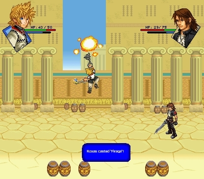 RPG Screens: Roxas vs. Leon