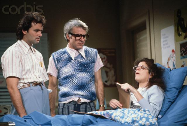 Radner, Murray and Martin as Nerds