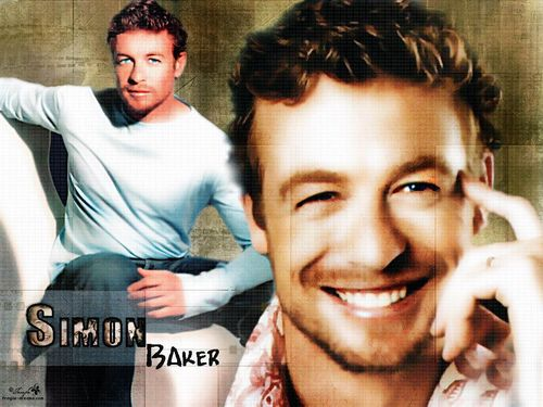 साइमन बेकर वॉलपेपर with a portrait called Simon Baker