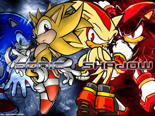 Sonadow wallpaper titled Sonic and Shadow Wallpaper
