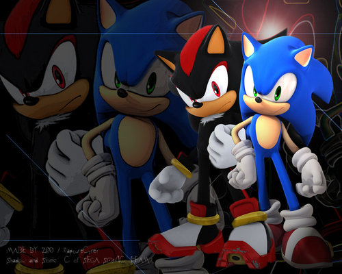 Sonic and Shadow Обои