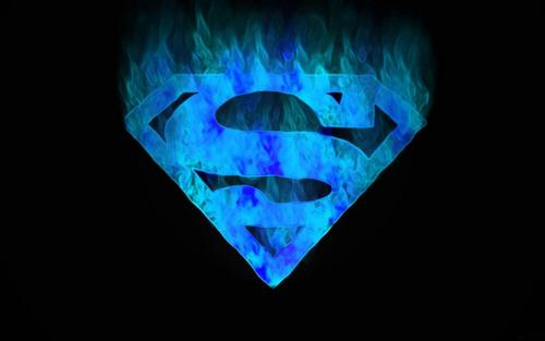 Superman kertas dinding entitled Superman Blue Flame