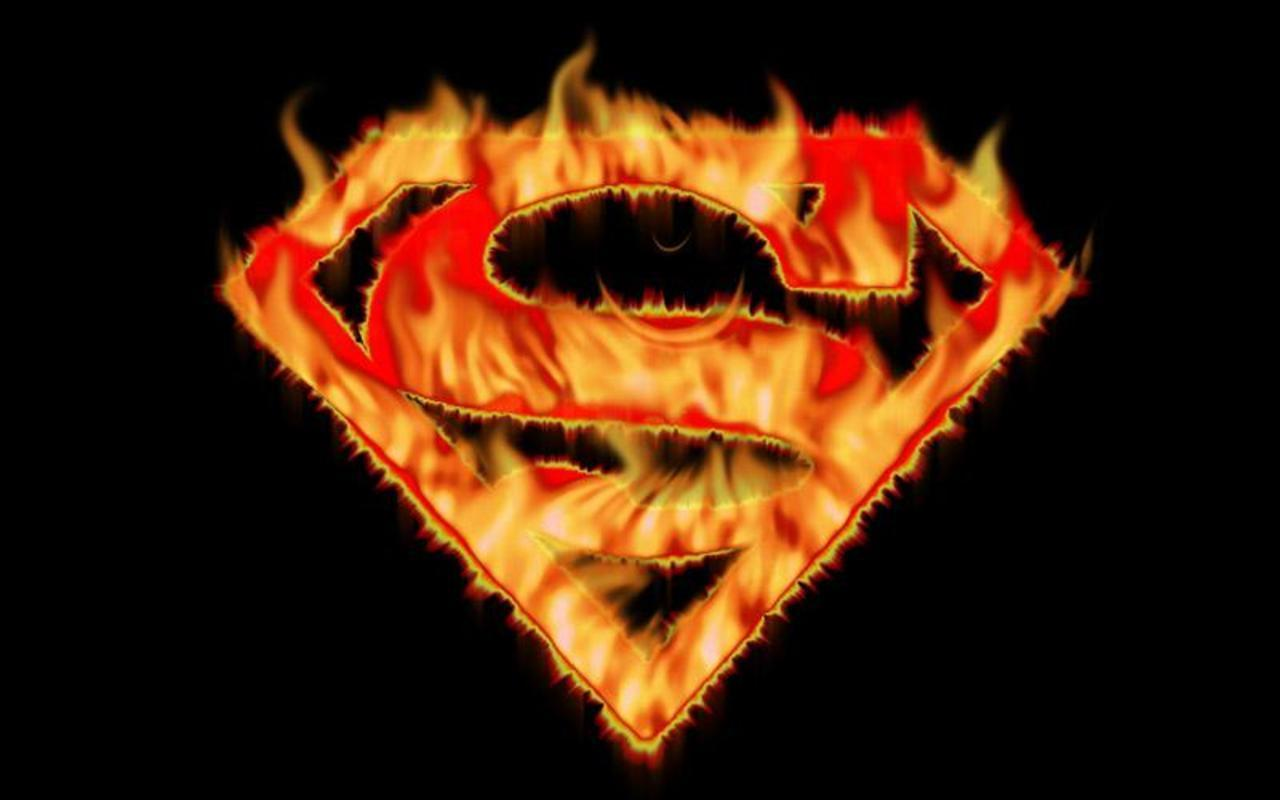 superman logo fire hd - photo #2