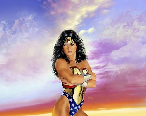 Wonder Woman fond d'écran with a bikini called Wonder Woman